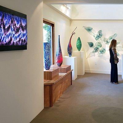 A view of the Lino Tagliapietra exhibition.