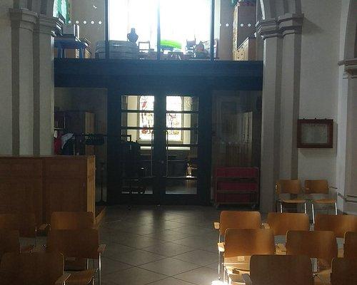 An interior view