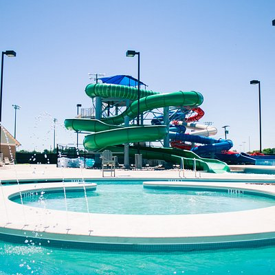 Slides and Lazy River at Adventure Cove in Abilene Texas