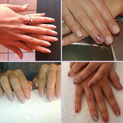 We have 2 Gel Extensions Pic 1 and Pic 3 , this is to extend the nail without using tips and instead using paper forms and gel to extend the nail