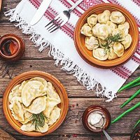 The delicious Varenyky and Pelmeni!