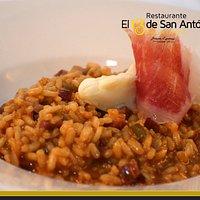 arroz con jamón y Torta del Casar