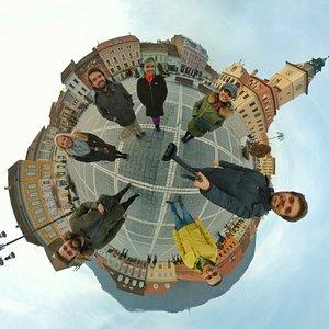 360 degree view of Brasov Main Square