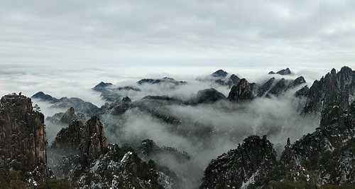 Spectacular clouds of Beihai in Mt.Huangshan