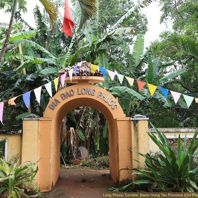 Long Phuoc Tunnels park entrance. Ba Ria - Vung Tau Province, Vietnam.