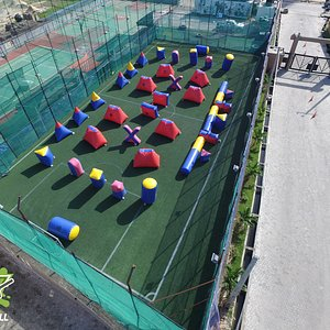 Leisure Sports Paintball Arena Lekki Lagos Drone Shot over-view. We recently relaunched and this is our new Bunker Layout.