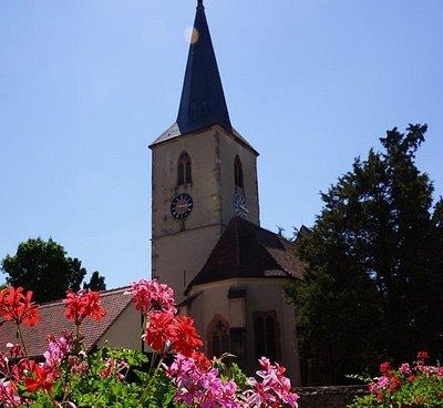 Eglise protestante de Baldenheim (village à côté de Sélestat)