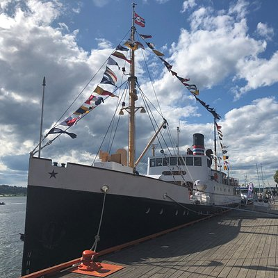 D/S Kysten at the harbour in Tønsberg City