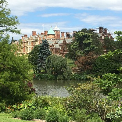 Sandringham House viewed across on of the lakes