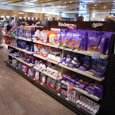 お菓子の商品棚