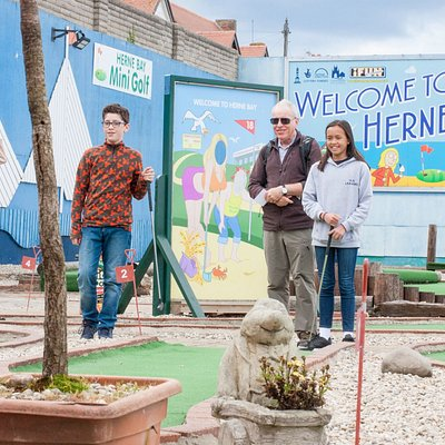 Welcome to Herne Bay Mini Golf Course. Perfect family fun alongside the Kent coastline