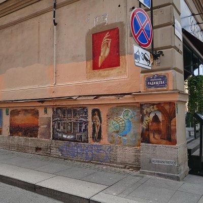 Urbanfresco - Музей под открытым небомUrbanfresco - Музей под открытым небом в Санкт-Петербурге