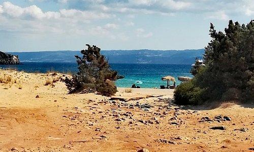 La Simos Beach con scorcio dell' isola di Kithira!😍🇬🇷