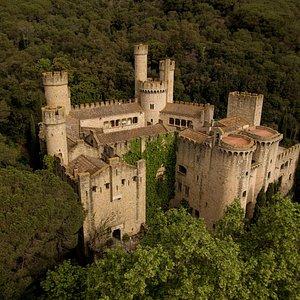 Vista aéria del Castillo de Santa Florentina