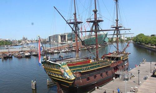 The replica of the Amsterdam