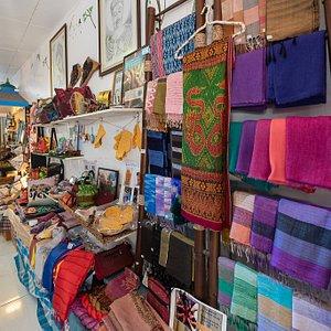 Beautiful arts and crafts handmade by local community artisans, social and environmental initiatives at The Family Tree, Naresdumri Street, Hua Hin.