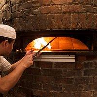 Punch Pizza Highland Park wood burning oven