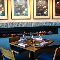 Dinner by the fire at Number One Restaurant
