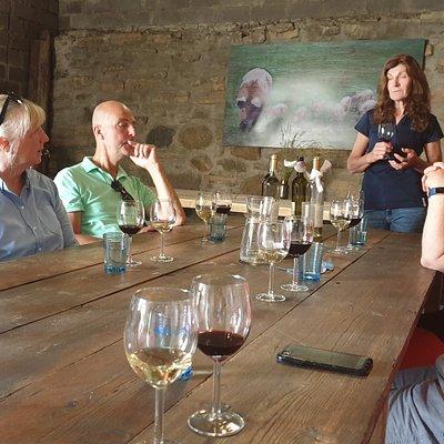 Vinprovning med Eva Gustafsson. Du får gå på systembolaget själv och ta med vinet.