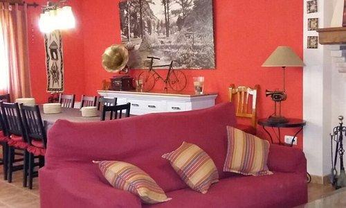 Vista sala de estar-comedor , casa de 8