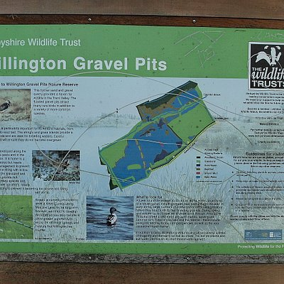 Willington Gravel Pits sign
