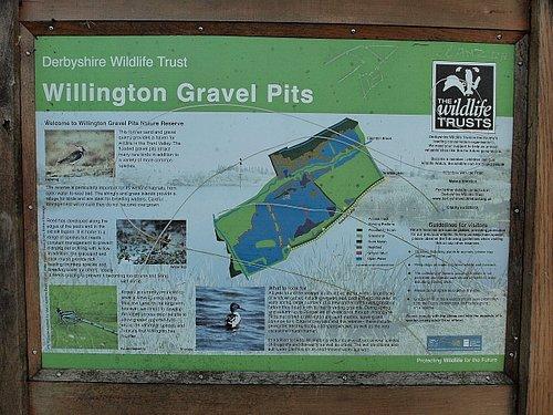 Willington Gravel Pits sign