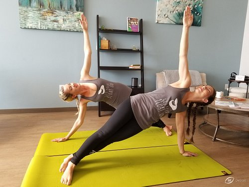 Yoga mats are here for you at no charge if you'd like to stretch before or after your session.
