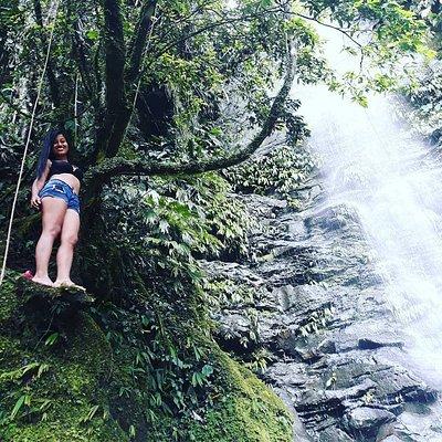 En cascadas Islom. Una aventura en la selva. Cerca de Archidona. Comunidad Santo Domingo.