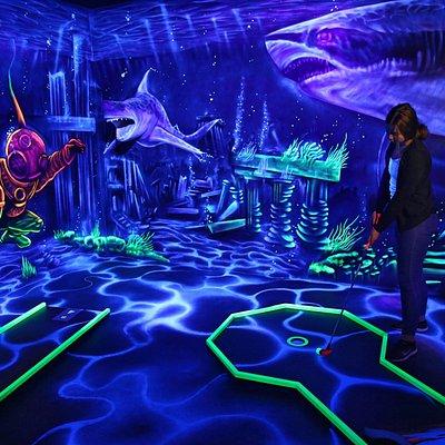 Innenansicht Unterwasserwelt (1 von 4 Themenräumen)