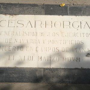 Tumba de César Borgia.