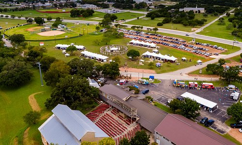 Aerial of the Texas Arts and Crafts Fair