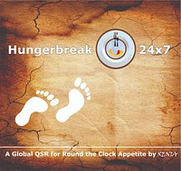 "Hungerbreak24x7 a Quick Service Restaurant by XENIA that offers Vegetarian and Non Vegetarian variations of New Age Menu with Global Cuisine Options that caters to the taste buds of today's foodies across ""Millennial"" and ""Digital Natives"" of age group of 6 to 25."