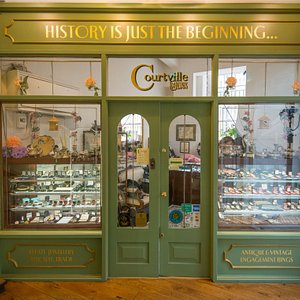 This is the front of our antique and vintage jewelry shop !