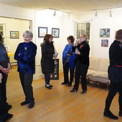 art reception at ACHP