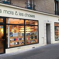 La devanture de la librairie