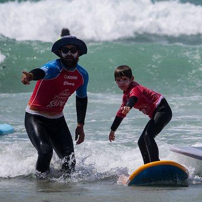Cours de surf à La Torche