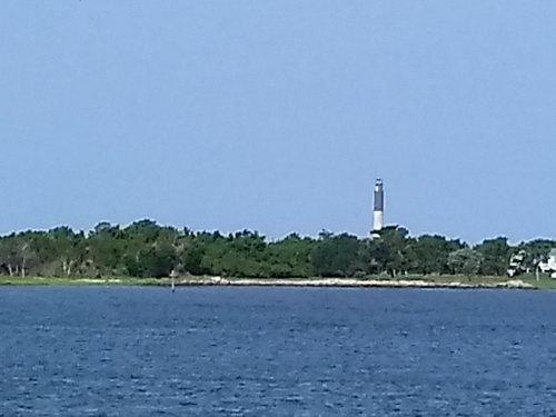 Oak Island Lighthouse from BHI Ferry.....