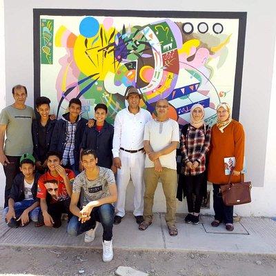 جدارية بثانوية 3 مارس الإعدادية تيفلت