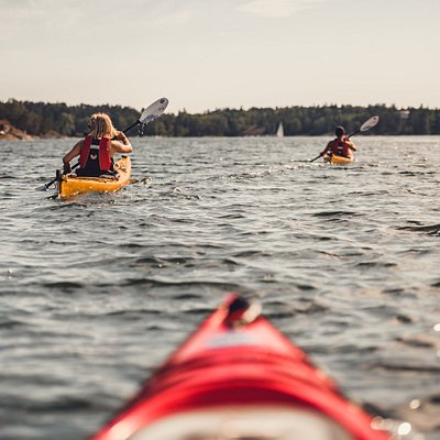 From our base at Bullandö Marina, <1h from the city center by public transport, you reach the outer parts of the archipelago in less than a day. Read more here: www.getoutkayak.se/products/kayak-stockholm-archipelago  Photo: Erik Schuss