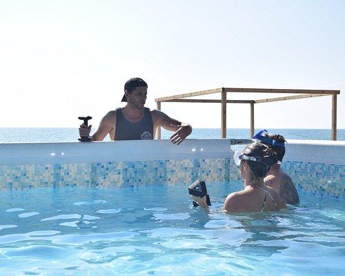 Water training apnée et respiration technique