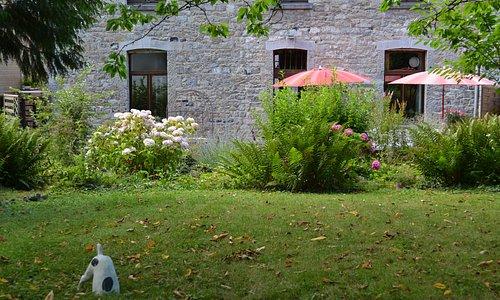 Our garden and orchard. Notre jardin et verger. Onze tuin en boomgaard
