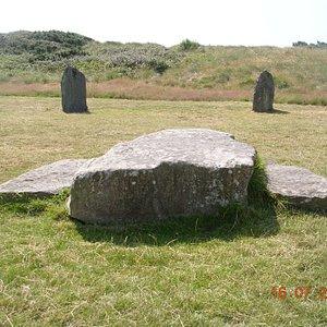The Logan Stone in the cenre of the Pwllheli Gorsedd Circle