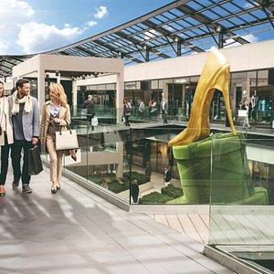 One Nation Paris est le plus grand centre commercial Outlet dédié aux marques de mode et de luxe en France.   Le centre commercial propose le chic français intemporel et la sélection la plus exigeante de marques internationales : des pièces branchées et glamour de Maje au luxe et à l'élégance contemporaine d'Armani, en passant par les marques emblématiques et mondialement renommées des Galeries Lafayette : symbole du shopping français de luxe.
