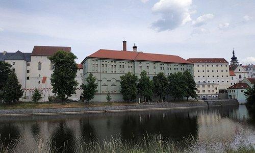Budovy na místě původního píseckého hradu
