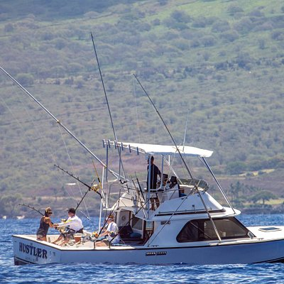 Hustler on a 769lb Blue Marlin