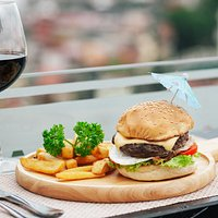 AUS Beef burger and cheese