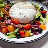 "Mixed Salad with ""Burrata"""