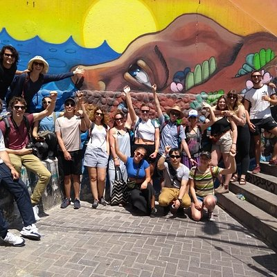 Awesome group in the Free Walking Tour Barranco