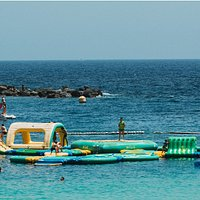 Amadores Fun Park from the beach