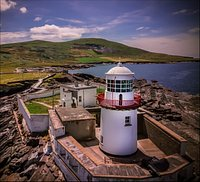 Valentia Lighthouse in the sun.